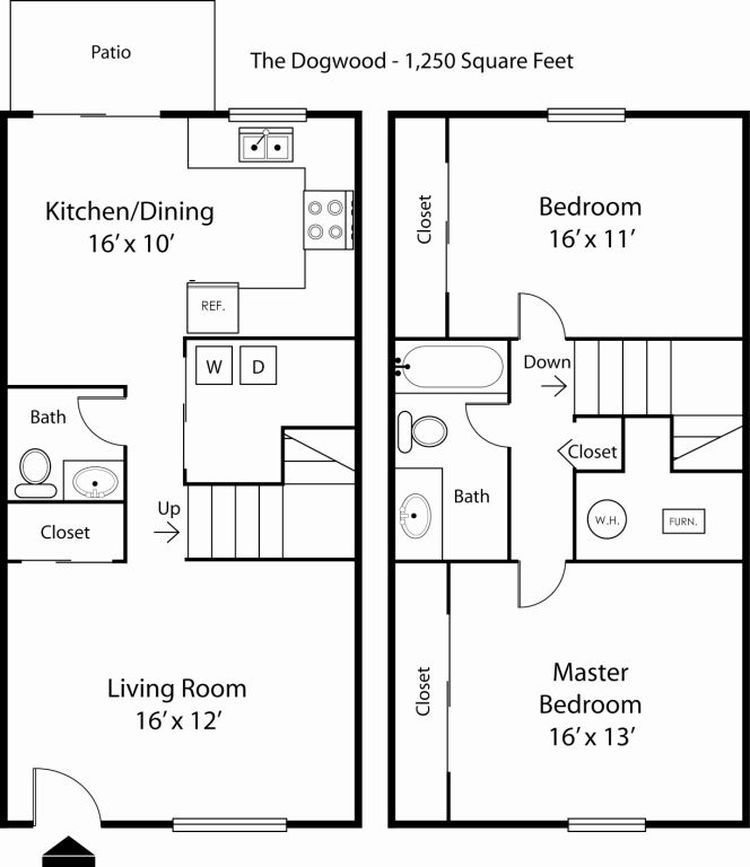 Floor Plan Details Main Street On The Monon Apartments