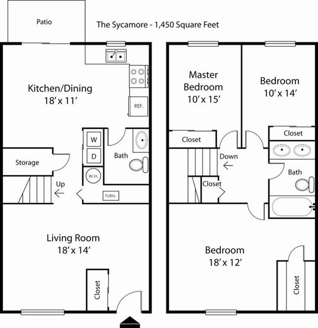 Floor Plan Details Main Street On The Monon Apartments